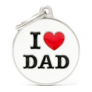 Medaglietta Charms I Love Dad