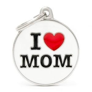 Medaglietta Charms I Love Mom