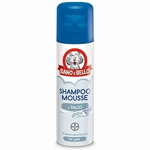Shampoo Mousse al Talco per...